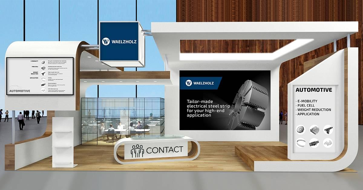 DIGITAL AUTOMOTIVE MEETINGS 2021 Waelzholz exhibition stand