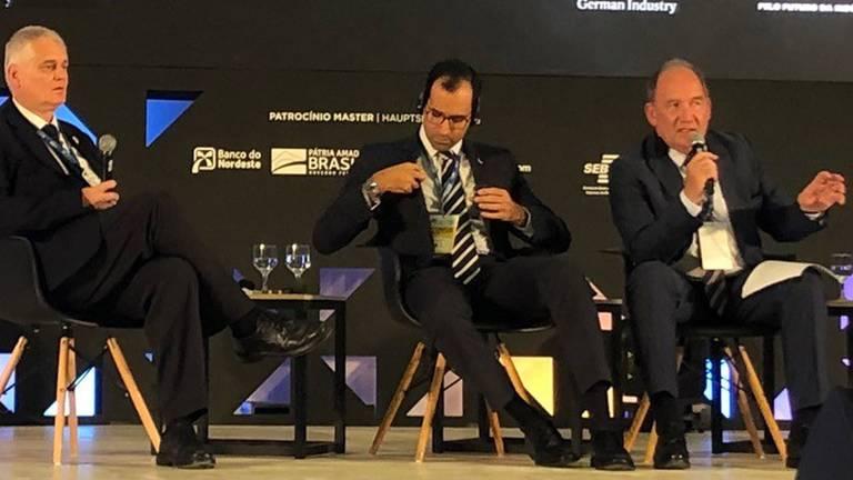 Waelzholz CEO Dr.-Ing. Hans-Toni Junius on the podium of the 37th German-Brazilian Business Days Teaser photo