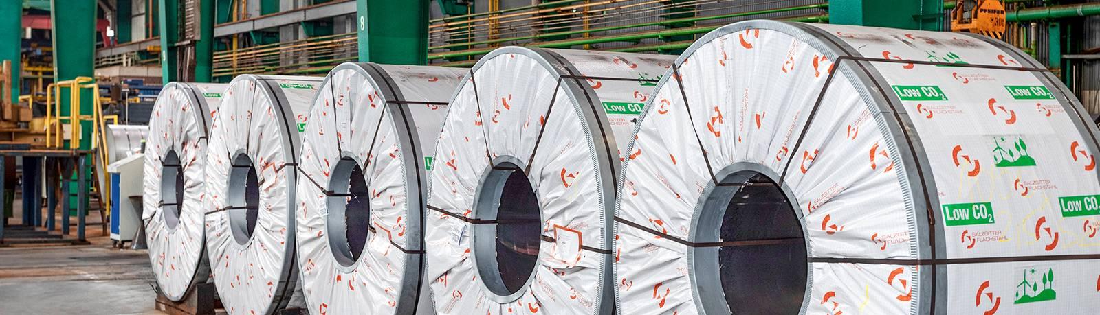 Entrega de bobinas de banda en caliente con bajo nivel de Co2 de Salzgitter AG a Waelzholz Sliderfoto